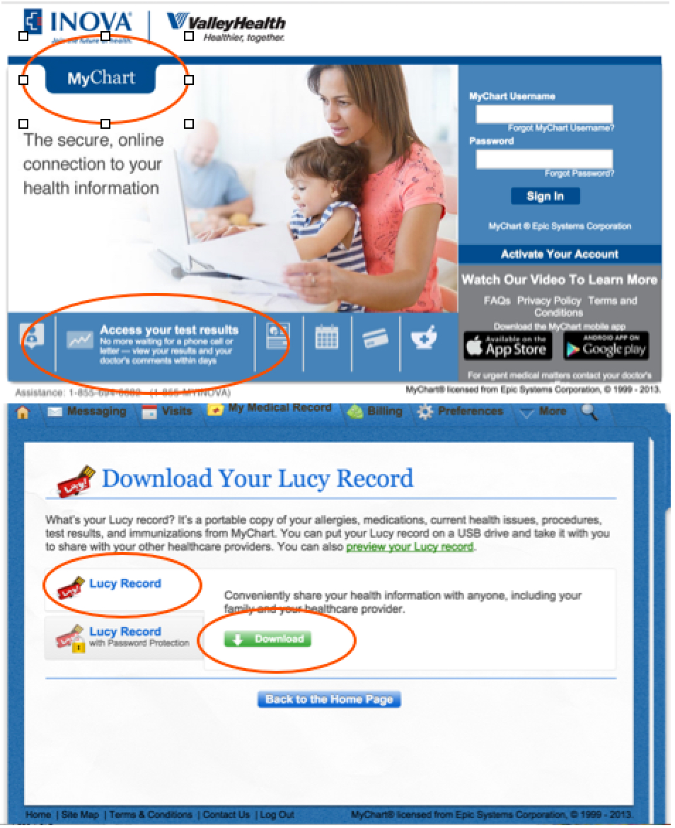 INOVA Patient Portal with LUCY