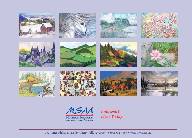Back of 2016 MSAA Calendar