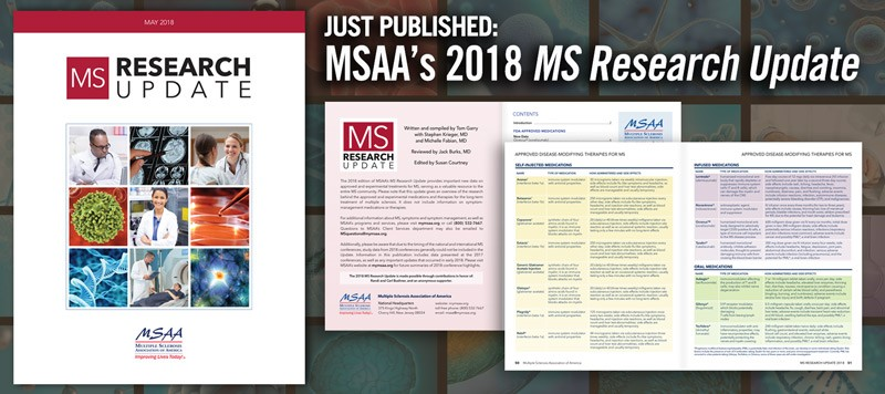 MSAA MS Research Update 2018 - cover and content