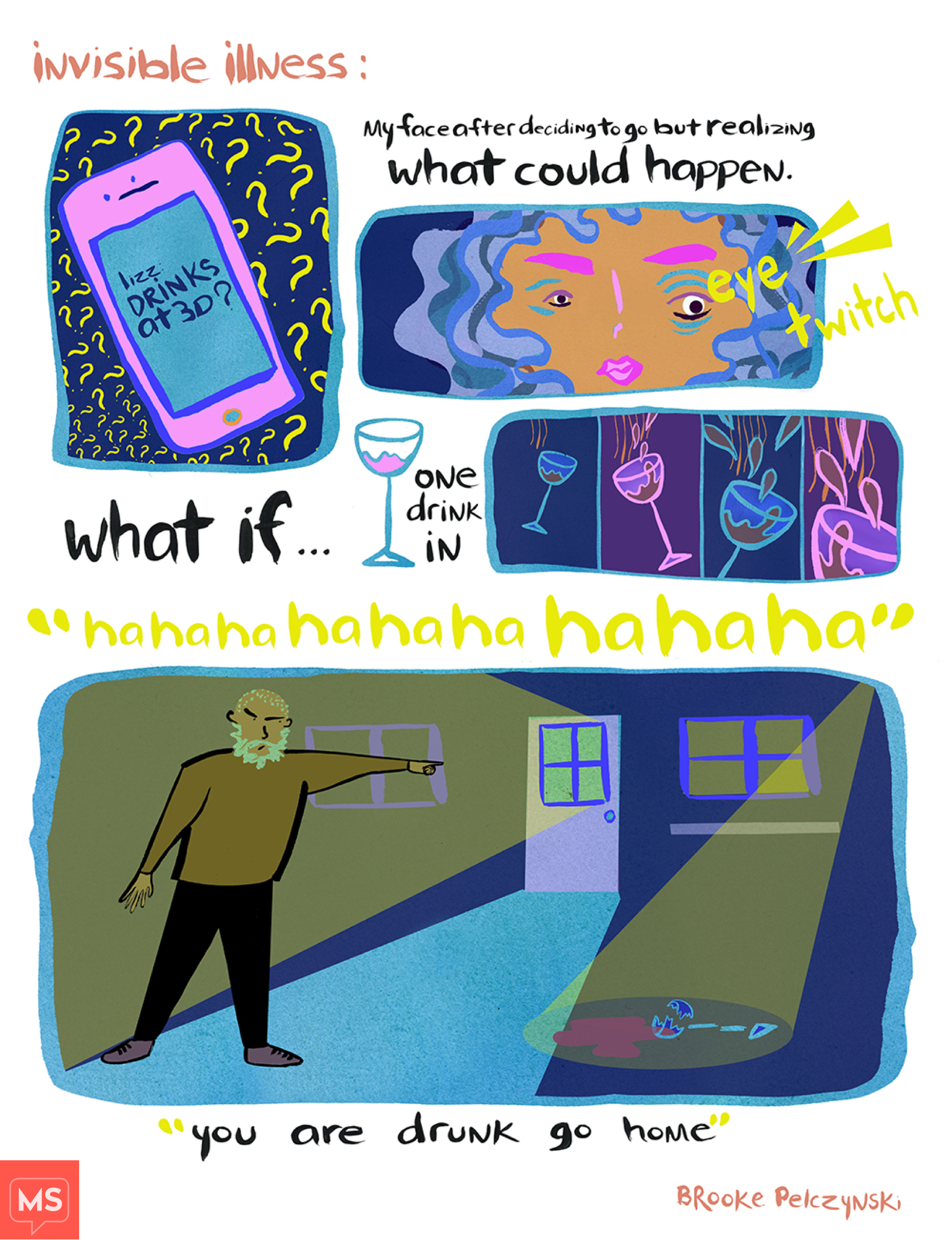 four frame comic by Brooke Pelczynski