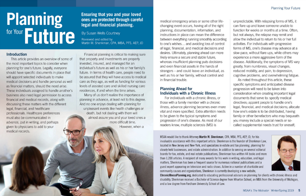 Planning for Your Future from MSAA's The Motivator magazine