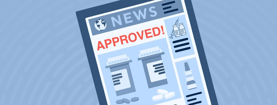 """A newspaper headline that says """"Approved!"""""""