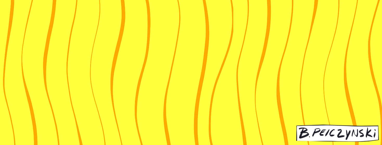 Orange lines on a yellow background