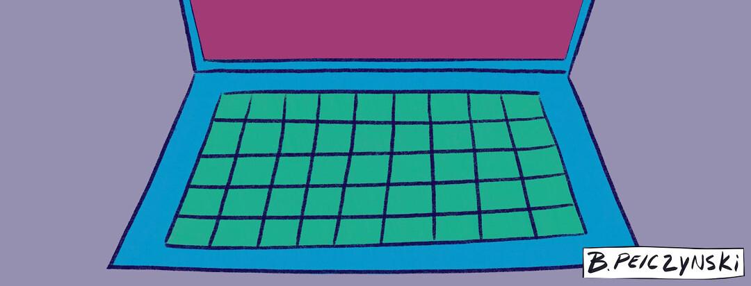 A laptop keyboard. MS Comic: Googling Symptoms.